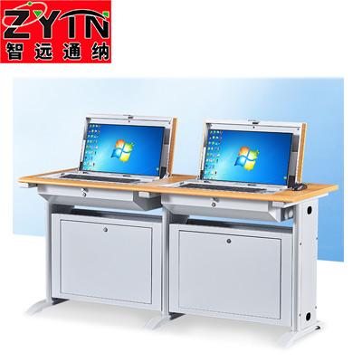 TN-JT005双工位显示器隐藏教学桌