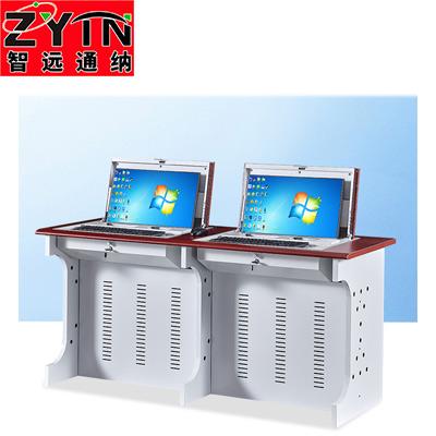TN-JT008双人位半嵌入式微机桌